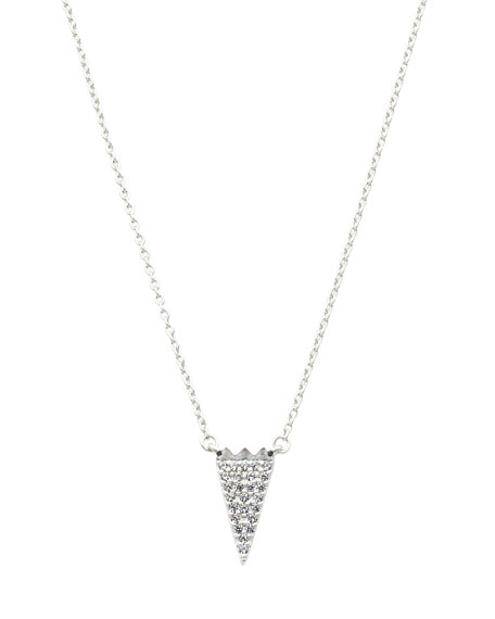 Pave CZ Stones Arrow Necklace