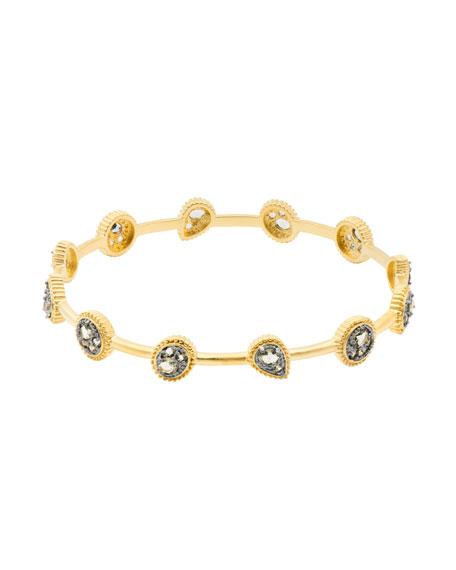 Oval CZ Stones Bangle Bracelet