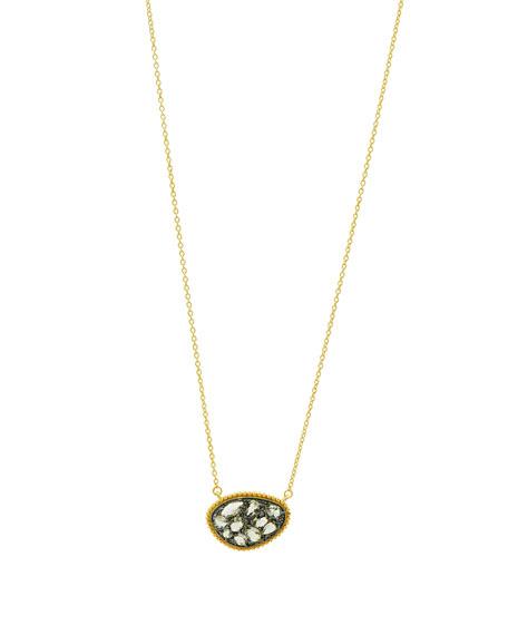 Freida Rothman Textured Pebble CZ Stones Pendant Necklace zmFLQkwJ1