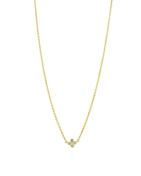 Mini Clover Necklace with CZ Stones