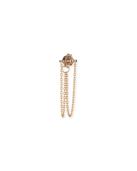 Seven-Diamond Single Dangle Earring