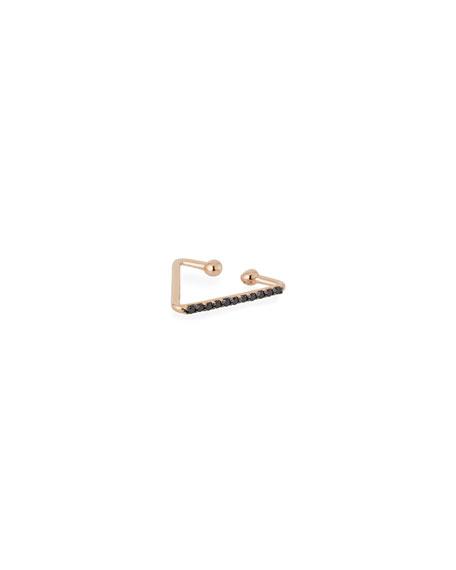 Kismet by Milka 14k Black Diamond Single Triangle Clip-On Earring Nvt4qSWb
