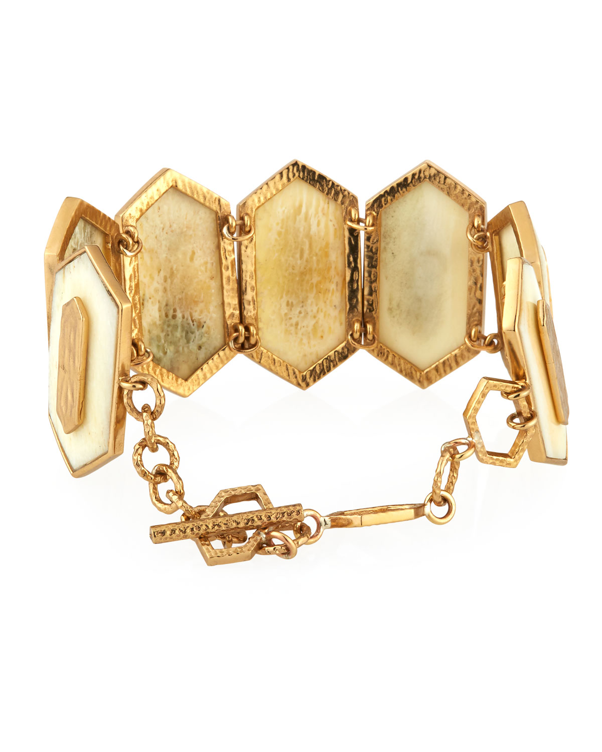 Akola Hexagon Bone Cuff Bracelet