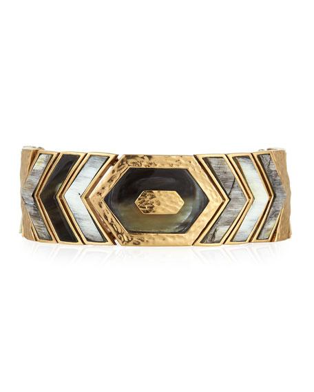 Akola Hexagon Horizontal Bone & Horn Bracelet