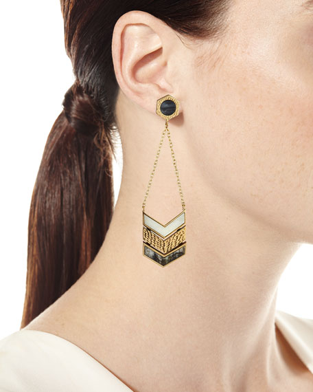 Hexagon Chain Drop Earrings