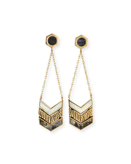 Akola Hexagon Chain Drop Earrings