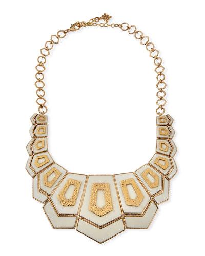 Hexagon Vertical Bib Necklace