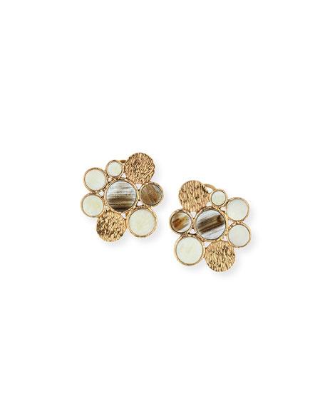 Akola Circle Stud Earrings