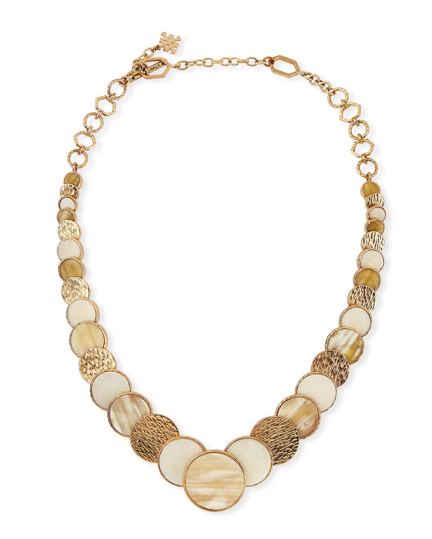 Akola Large Circle Necklace 8ctMK