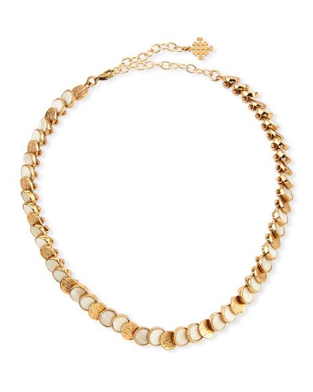 Akola Small Circle Choker Necklace, White