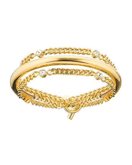 Luna Crystal Chain Wrap Bracelet
