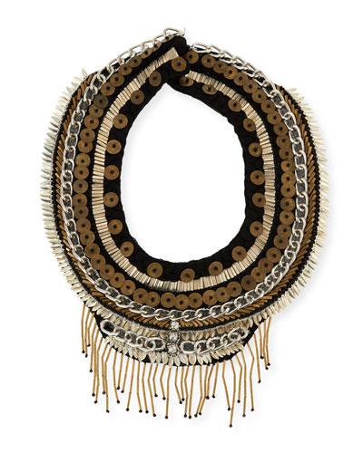Petite Layne Beaded Necklace, Black