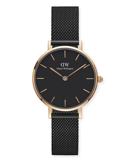 DANIEL WELLINGTON Classic Petite Ashfield Bracelet Watch, Black/Rose-Golden