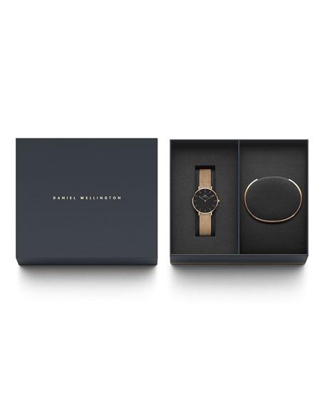 Petite Melrose Watch Gift Set by Daniel Wellington