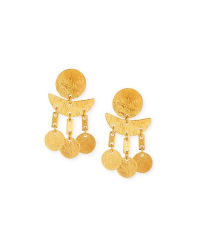 Geometric Hammered Dangle Earrings