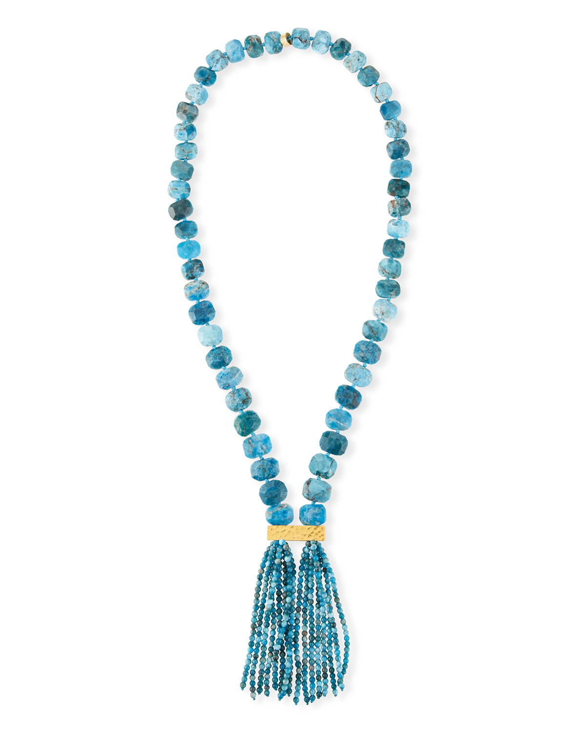 Nest Black Horn & Turquoise Beaded Lariat Necklace oRMgHR