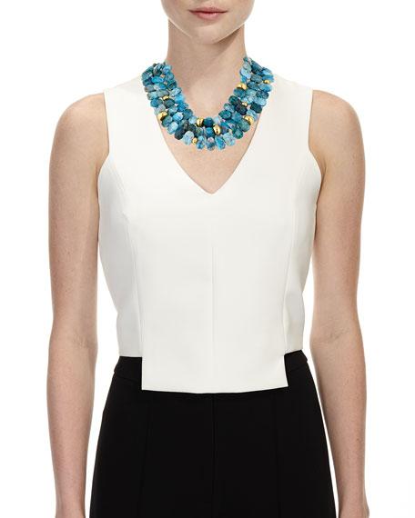Multi-Strand Apatite Necklace