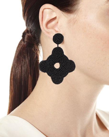 Seed Bead Drop Earrings