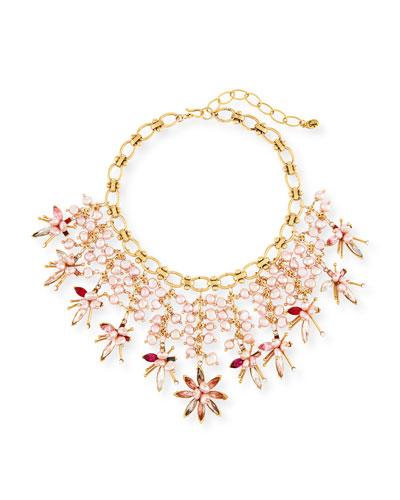 Pink Pearly Swarovski® Crystal Statement Necklace