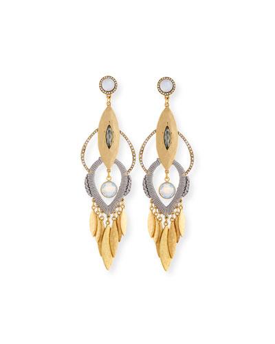 Tiered Fringe Drop Earrings
