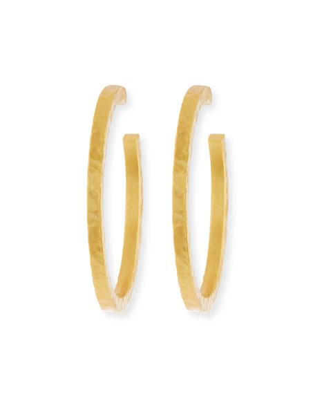 Stephanie Kantis Golden Nugget Hoop Earrings