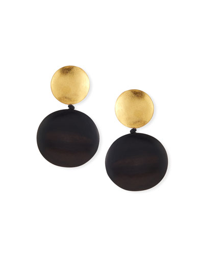 Double Disc Statement Clip Earrings