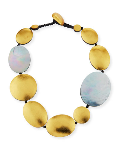 Single-Strand Disc Necklace