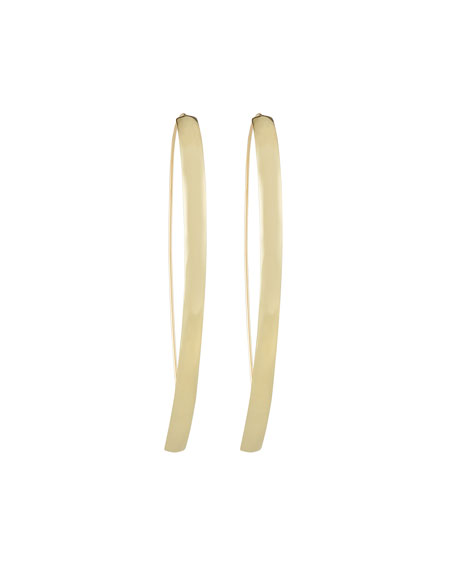 LANA 14k Hooked on Curve Hoop Earrings