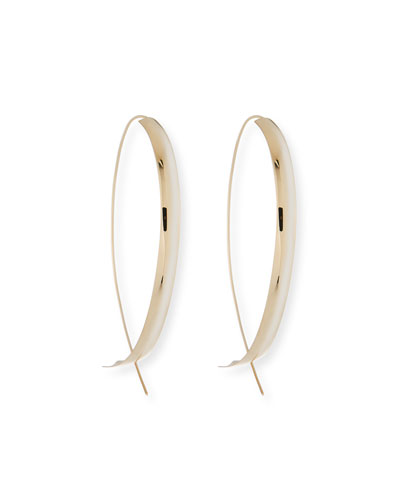 14k Curve Upside Down Hoop Earrings
