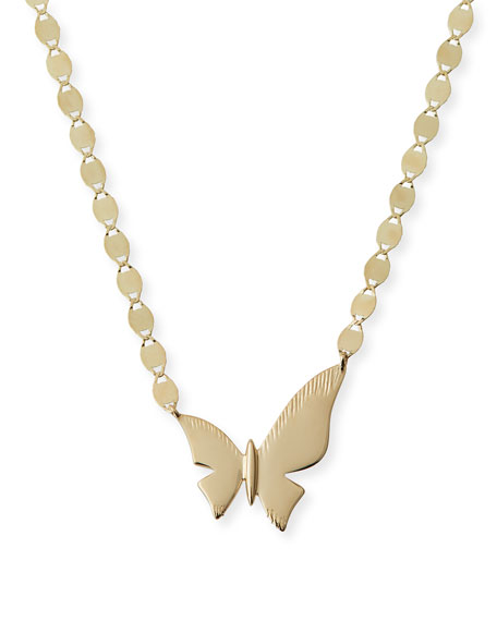 LANA 14k Charmed Small Butterfly Necklace