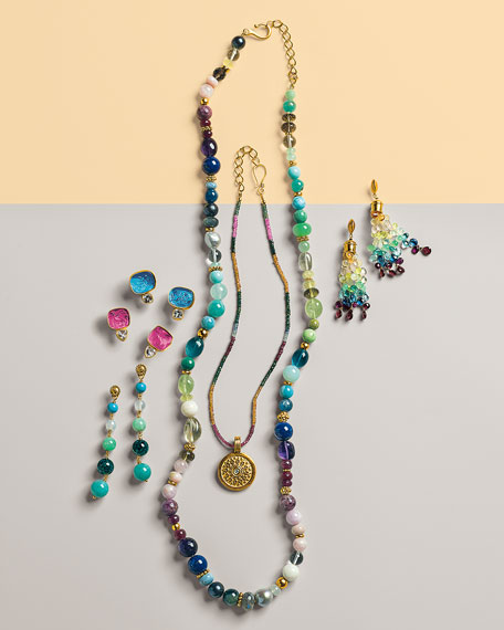 Rainbow Sapphire Necklace