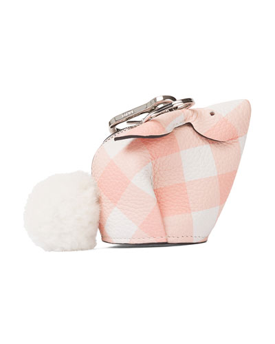 Bunny Gingham Charm for Handbag