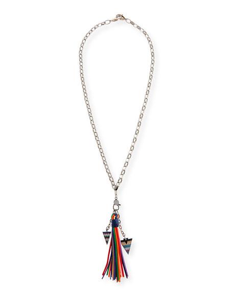 HIPCHIK Azalea Tassel Chain Necklace in Multi
