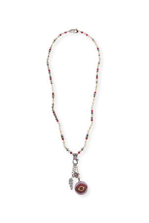 Hipchik Dahlia Beaded Charm Necklace