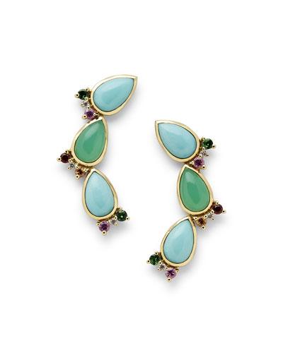 Prisma Crawler Earrings in Portofino