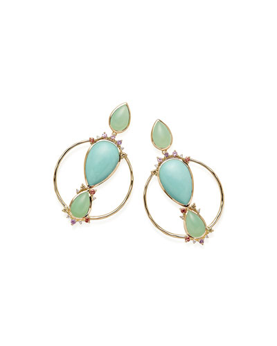 Prisma Front-Facing Hoop Earrings in Portofino