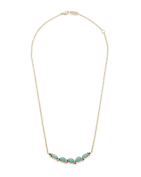 Ippolita Prisma Five-Stone Smile Bar Necklace in Portofino