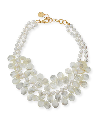 Two-Strand Mother-of-Pearl Necklace