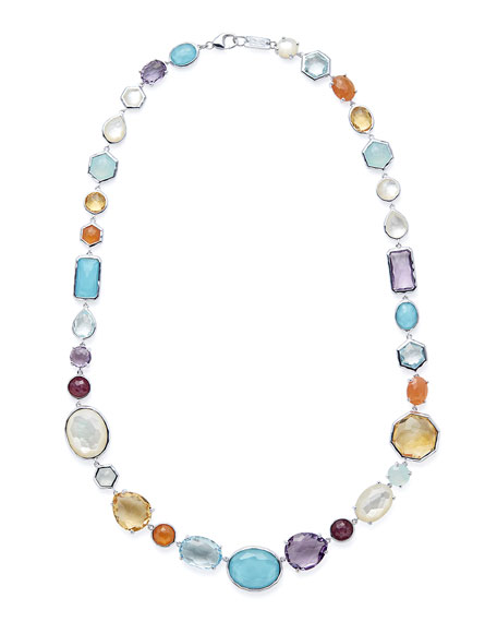 Rock Candy Short Stone Necklace, 18.5""
