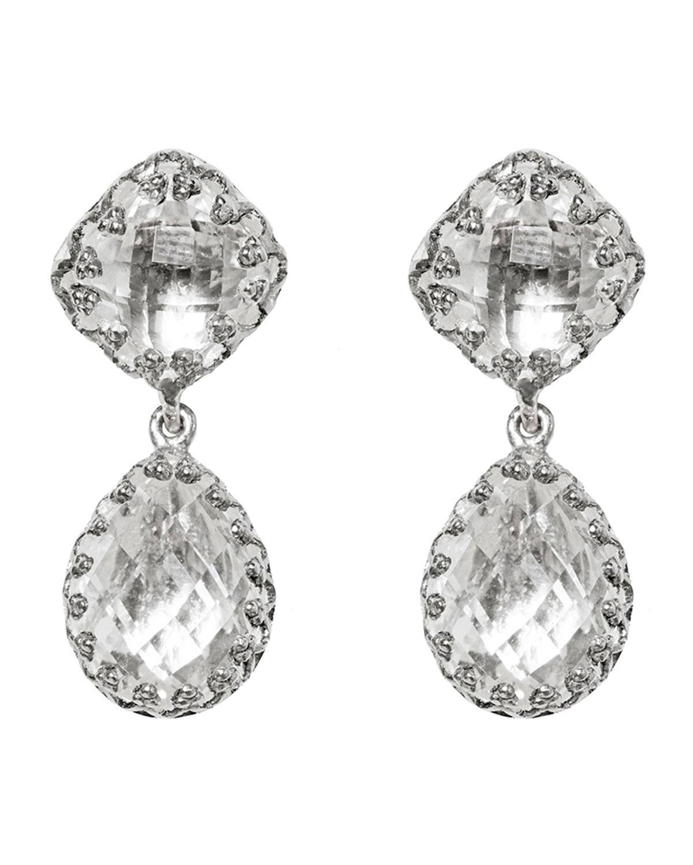 Larkspur & Hawk Jane Double-Drop Earrings with Gray Foil 4uRHey