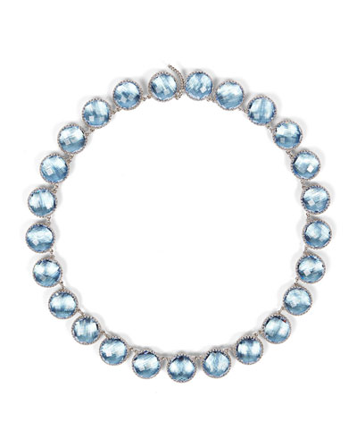 Olivia Button Riviere Necklace in Chambray Foil