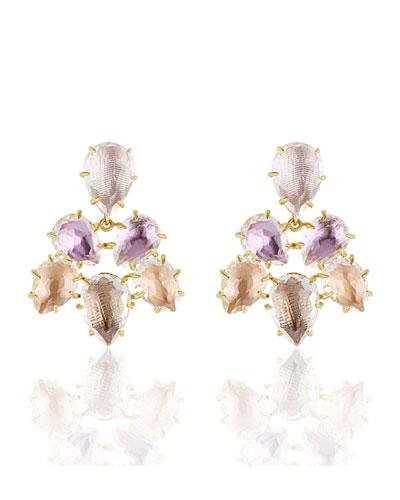 Caterina Chandelier Earrings in Ballet, Rose, Bellini & Fawn Foils