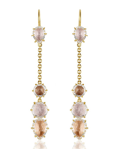 Caterina Chain Drop Earrings in Ballet, Fawn & Bellini