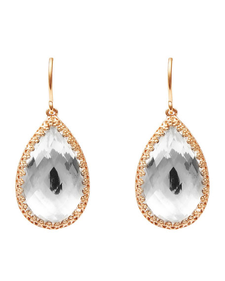 Sophia Teardrop Earrings in White Foil