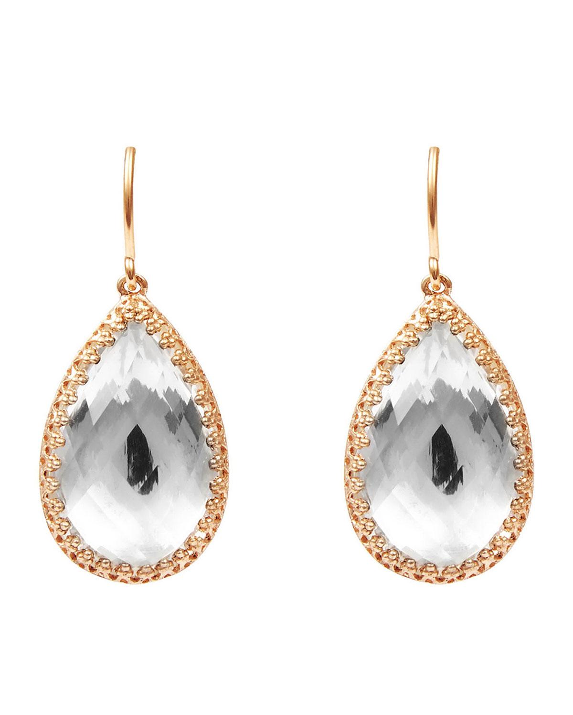 Larkspur & Hawk Sophia Teardrop Earrings in White Foil vp8Hxxvy