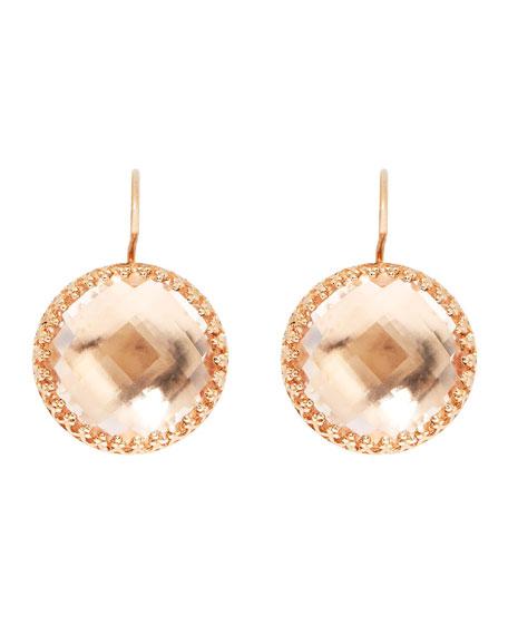 Olivia White Quartz Drop Earrings with Copper Foil