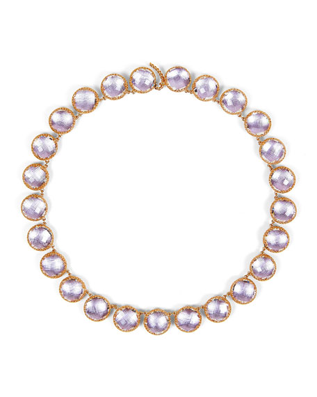 Olivia Button Rivière Necklace in Petal Foil