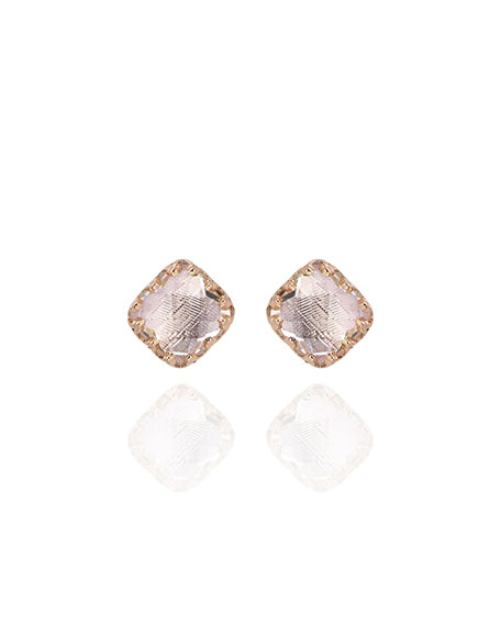 Larkspur & Hawk Bella Stud Earrings in Gray Foil v5kpqeQ