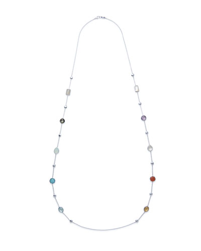 925 Rock Candy® Medium-Station Necklace in Eclipse, 42