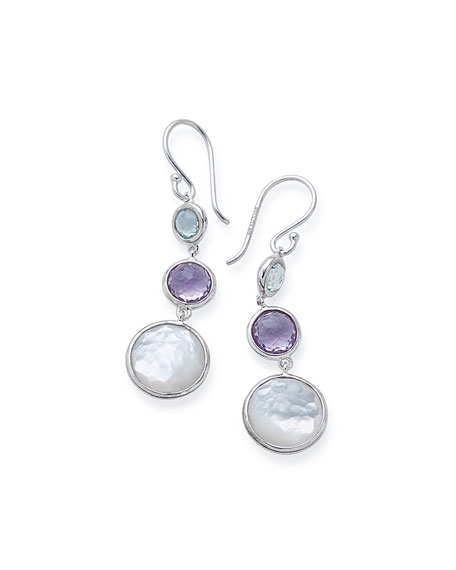 Ippolita Small Silver Lollitini Three-Stone Earrings